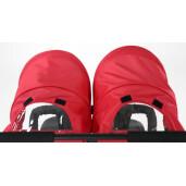 Carucior sport pentru gemeni Asalvo DOUBLE DINAMIC Red